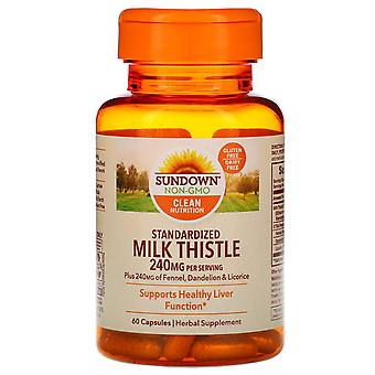 Sundown Naturals, Standardized Milk Thistle, 240 mg, 60 Capsules