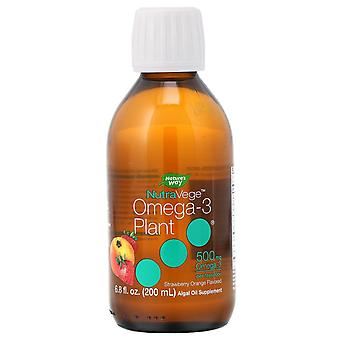 Ascenta, NutraVege, Omega-3 Plant, Strawberry Orange Flavored, 500 mg, 6.8 fl oz