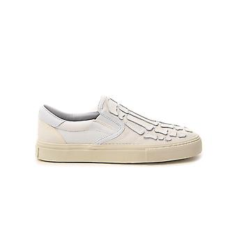 Amiri Y0g23419cywht Mujeres's White Fabric Slip On Sneakers