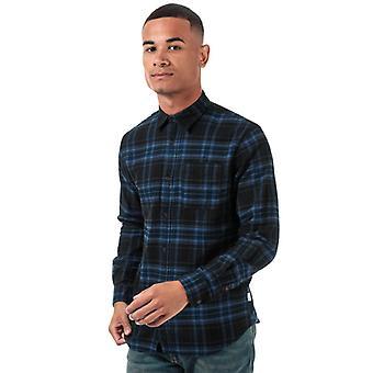 Men's Jack Jones Plain Pre Check Camicia in Nero