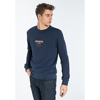 Merc MILLCROFT, Men's Sweatshirt met Chest Crown Borduurwerk