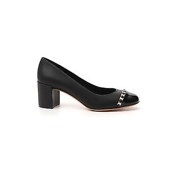 Salvatore Ferragamo 01p343704010 Women's Black Leather Pumps