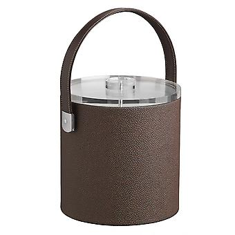 Cosmopolitan Mocha 3Qt. Ice Bucket With Thick Lucite Lid, Strap Handle