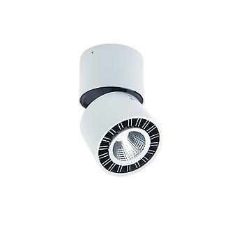 Spotlight 8.5cm Pyöreä 12W LED 3000K, 1040lm, Matta valkoinen