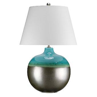1 Lámpara de mesa ligera grafito, turquesa, E27