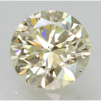 Certified 0.75 Carat J VVS2 Round Brilliant Enhanced Natural Diamond 5.79mm 3EX