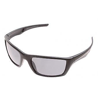 sportzonnebril unisex matzwart met grijze lens
