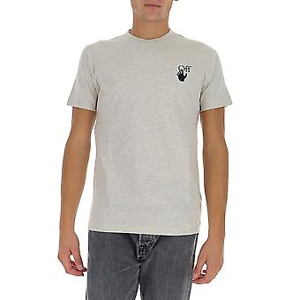 Off-white Omaa027f20fab0130810 Men's Grey Cotton T-shirt