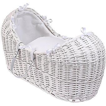 Clair de Lune Waffle Wicker White Noah Pod Basket