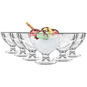 Bormioli Rocco Diamond Retro Ice Cream Dessert Bowls Set met Stem - 360ml - Pack van 24