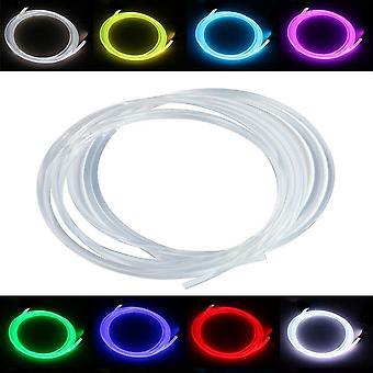 Câble de fibre optique de lueur latérale pour la nuit d'éclairage optique de plafond d'intérieur de voiture