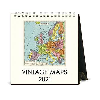 Cavallini & Co Maps Desk Calendar 2021