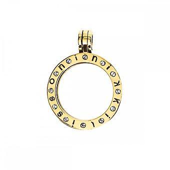 Nikki Lissoni pequeño oro plateado colgante con 12 piedras Swarovski P06GS