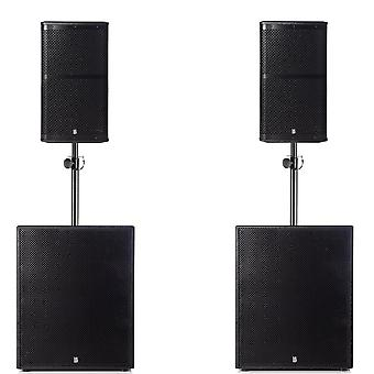 Big gig rig 12 - passive 1800w rms 10 tops and 15 subwoofer pa system