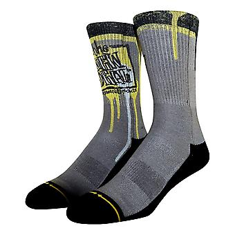 Merge 4 New Deal Napkin Logo Socks - Grey