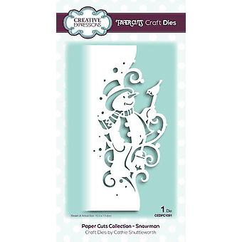Creative Expressions Paper Cuts Collection Cutting Dies – Snowman Edger