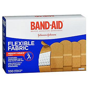 Johnson & Johnson Band-Aid Flexible Fabric Adhesive Bandages All One Size, 100 each