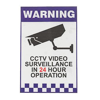 Warning CCTV Security Surveillance Camera Decal Sticker Sign 66mmx100mm