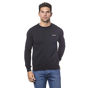 Roberto Cavalli Sport Anthracite Round Neck Sweater