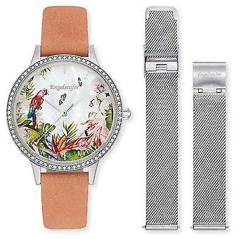Angel Caller Women's Watch Wristwatch Stainless Steel ERWO-PARADISE-01 Leather Strap / Mesh Band