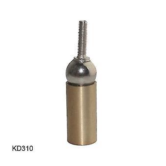 Kd310 3d εκτυπωτή υποδοχή σύνδεση χάλυβα μπάλα ορείχαλκο ράβδο τέλος με τρύπα νήμα