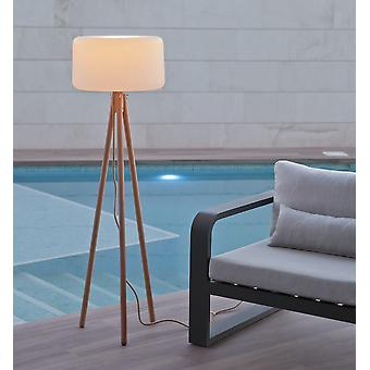 Wooden Legs Floor Lamp