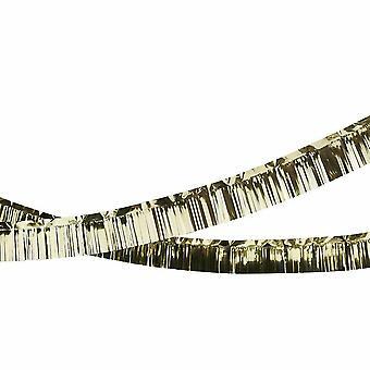 Lámina de flecos de guirnalda - decoración de fiesta de Navidad de oro 5m