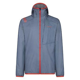 La Sportiva Odyssey Gtx Mens Waterproof Goretex Jacket For Running & Mountaineering Opal/poppy