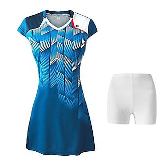Women Tennis/sport Badminton Dress Suit, Quick-drying, Breathable Short Sleeve