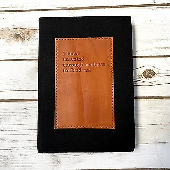Madness Fabric And Leather Layflat Bullet Journal