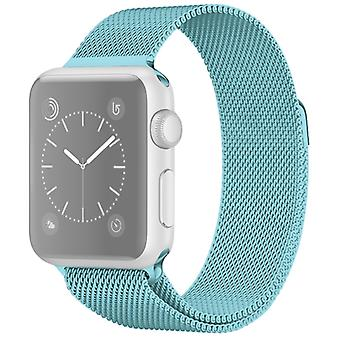 Per Apple Watch Series 5 e 4 44 mm / 3 &e 2 &e 1 42mm Milanese Loop Magnetic Stainless Steel Watchband (turchese)
