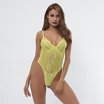 Cryptographic Hot Sale Sheer Pizzo Body Women Backless Transparent Mesh Bow
