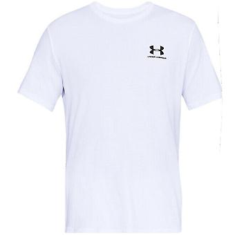 Under Armour Mens Sportstyle Left Chest T-Shirt Branded Top White 1326799 100