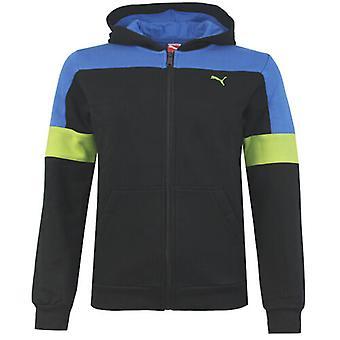 Puma TD Hooded Sweat Track Junior Boys Black Full Zip Jacket 829693 03 R6D