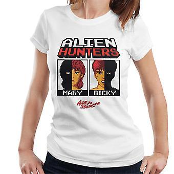 Sega Alien syndrom Alien Hunters Mary og Ricky Kvinner's T-skjorte