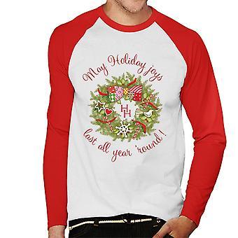 Holly Hobbie Weihnachten Mai Urlaub Freude letzte Männer's Baseball langärmelige T-Shirt