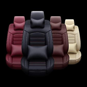 5pcs Set Car Seat Cover Breathable Leather Seat Cushion Car Seat Cushion Chair
