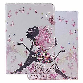 Ny ipad 9,7 2018 / 2017 sag, bling rhinestone pu læder smart cover med auto wake / sleep for ap