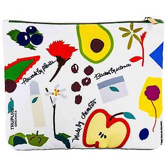 Bolsa cosmética de impressão botânica