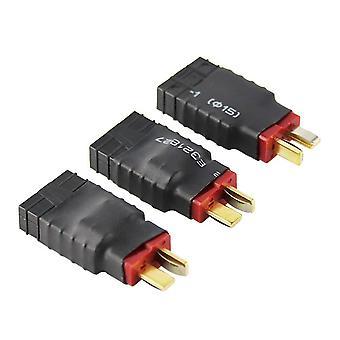 3 Stück männliche Dekane zu weiblichen Wireless-Adapter für trx traxxas Stecker für rc Ladegerät (Pack von 3)