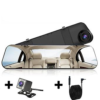 Camera White Rearview Mirror Recorder With Rear View Camera Video Registrator