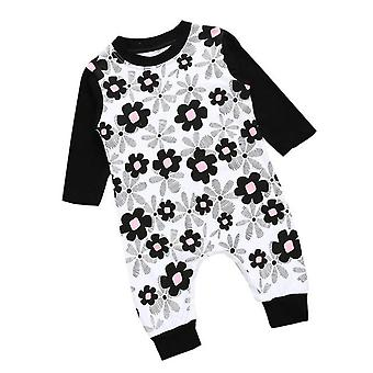 Cute Baby Girls Floral Cotton Romper