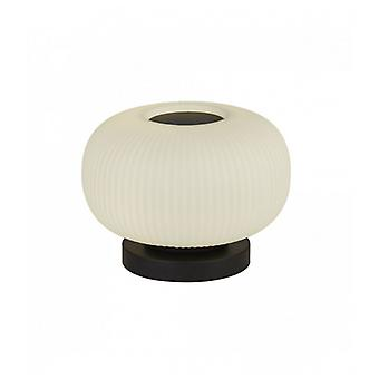 Lumina 1-light Table Lamp With Frosted Ribbed Glass