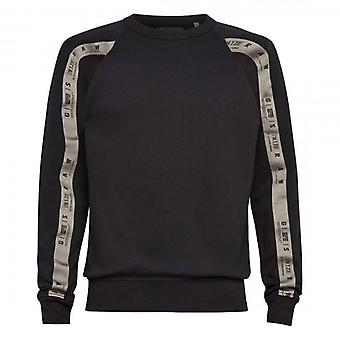 G-Star G- Star Raw Raglan Taping Crew Sweatshirt Black D19160