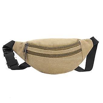 Waist Casual, Functional Money, Pouch Belt, Canvas Hip Bag