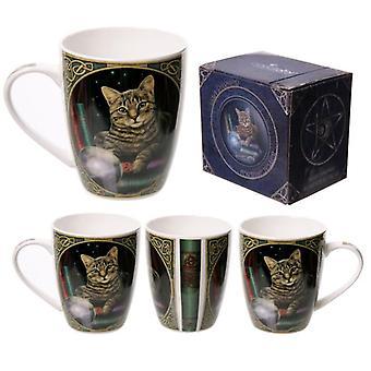 L'indovino gatto lisa parker ha progettato una tazza di porcellana