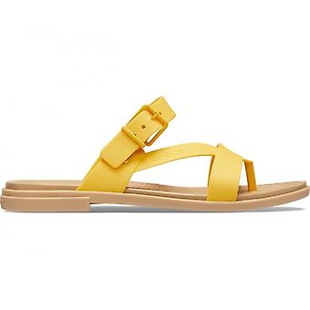 Crocs 206108 Tulum Toe Post Sandal Ladies Sandals Canary/tan