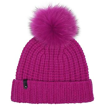 Doris Fox Fur Pompom Bonnet