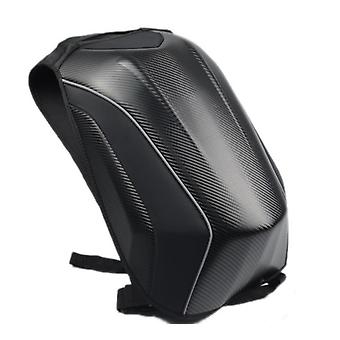 Motorcycle Backpack Carbon Fiber Racing Riding Helmet Bag