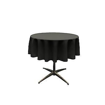 La Leinen Polyester Poplin Tischdecke 51-Zoll rund, schwarz